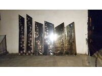 Acrylic mirror uprights. Multiple available, silver and gold - ex promotional display