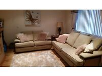 Fabric sofa 3 and 2 seater gold 400 ono