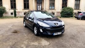 Peugeot 308 1.6 HDI 2009 £30 road tax a year