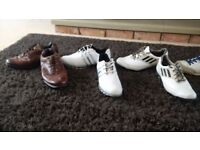 For Sale various used size 10 and 1 pair of size 9.5 golf shoes