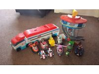 Paw Patrol Patroller/Lookout Tower and 9 Vehicles with all Pups/Ryder (DEREHAM COLLECTION)
