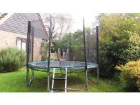 10 foot diameter Outdoor Trampoline with steps