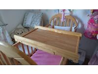 Cot top changing table