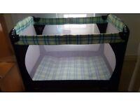 Travel cot with extra Mamas & Papas mattress