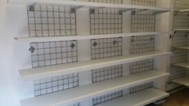 Retail Shelving 7ft/210cm Gridwall, Shelves and all Fixtures