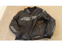 RST Leather jacket, trousers and gloves. Alpinestars smx plus boots and paddock stand.
