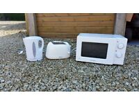 Kettle, Microwave, Toaster and Bin bundle