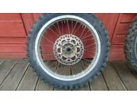 Kawasaki kdx 125 front wheel and tyre