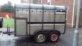 Ivor Williams cattle trailer