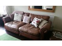 Leather Sofa and two matching chairs. Good quality, good condition and very comfortable
