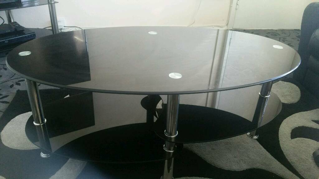 black glass coffee table. Black Glass Coffee Table E