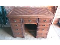 Hand crafted solid wood desk