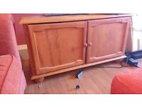 Solid wood TV cabinet, good condition