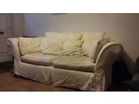 Three Seater Sofa (Cream)