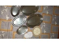 Trays, metal plus other items.