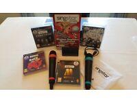 PS3 Singstar Wireless Mic's and 4 Singstar games
