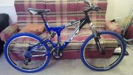GT i-drive 3.0 full suspension mountain bike