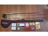 Fly fishing rod, reel, case & kit (+extras)