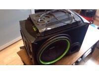 Fusion 1000w Amp and sub kit Loud. Audi bmw mercedes vw