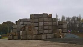 Large quantity of firewood and potato boxes