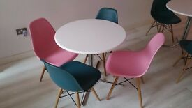 Pink/Teal/Fuscia Eiffel Chairs for Sale. Excellent Condition. 10 each available