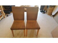 Solid Dining Table with 2 Chairs inc. Covers