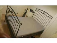 Kingsize ikea bed frame and mattress