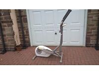 Cross trainer with resistance changer