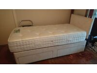 Single Divan bed with two drawers awers