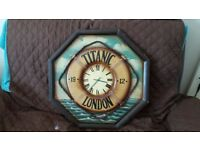 Rare titanic clock,all wood,petfect working order