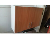 Athina 1000mm Fitted Kitchen Wall Unit - Beech
