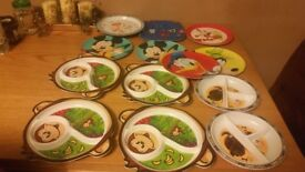 Plastic plates 1 sold so £9 for 12/children cushion table both £7
