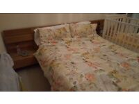 ikea malm double bed plus 2 bedside tables and mattress
