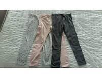 3x Girls mothercare leggings 6yr