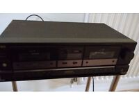 Aiwa double cassette deck AD-WX515 - may need new belts (for fast forward and rewind). Free.