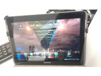 As new, Samsung galaxy P5100 wifi-3G tablet/phone, big 10.1' screen, unlocked. charger original case