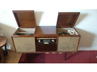 bush radiogram with philips garrard record player