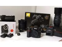Nikon D7100 dslr kit with 2 lenses, Grip and 2 battery all boxed Like New condition