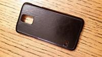 BLACK S5 protect SHELL WITH leather inset -  as new
