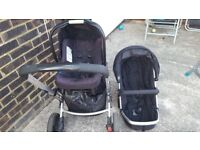 Mothercare travel system carseat and pushchair