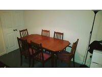 URGENT Dinning table with 6 chairs