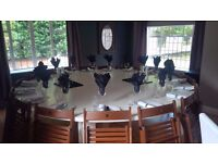 Round Dinning Table Large Seats 12-16 People Ivory
