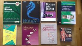 Books - various biosciences and massage therapy from £2 - £60