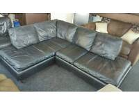 Leather corner sofa ( free delivery )