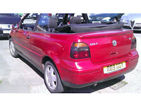 VW GOLF CONVERTIBLE 2L 1998 £750