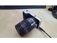 BMPCC camera with Panasonic H-HS12035E Lumix G X VARIO 12-35 mm Lens and more accessories
