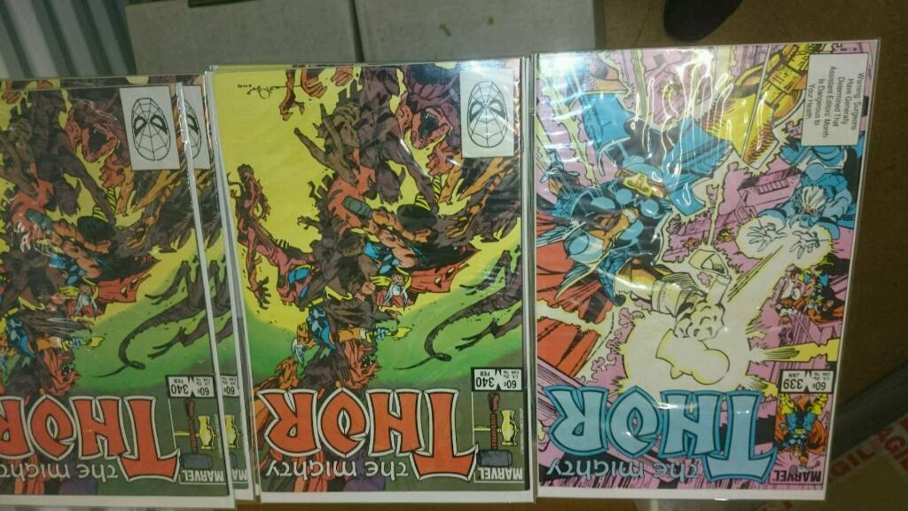 2 full boxes of thor comics 85-204 205-453
