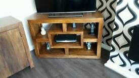Solid chunky wood furniture