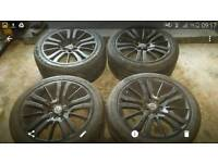 "Vw t5 alloy wheels 20 ""RANGE ROVER stormers GENUINE"