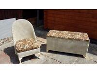 Lloyd Loom Furniture- Chair and Blanket Box